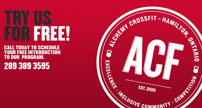 Try Hamilton's Alchemy CrossFit For FREE!