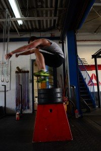 Alchemy Crossfit Hamilton Ontario over box jumps