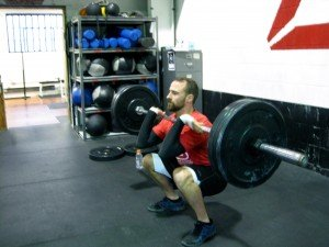 Darryl crushing the heavy front squats in today's wod!