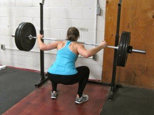Allie getting a 1RM backsquat during today's lift